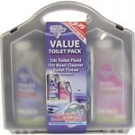 Blue Diamond Triple Pack Toilet Fluid, Bowl Cleaner and Toilet Tissue